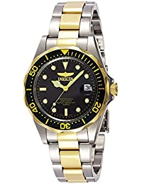 """Men's 8934 """"Pro-Diver Collection"""" Two-Tone Stainless Steel Watch, Silver-Tone/Black"""