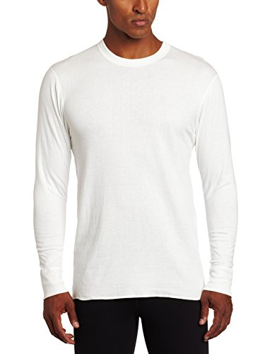 Duofold Men's Mid Weight Wicking Crew Neck Top, Winter White, Medium