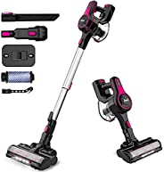 INSE Cordless Vacuum Cleaner, 4 in 1 Handheld Poweful Stick Vac with 1.2 L Large Dust Cup, Multiple Brush for