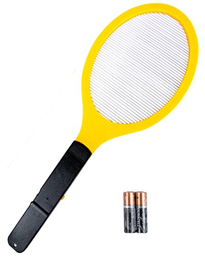 Elucto Large Electric Bug Zapper Fly Swatter Zap Mosquito Best for Indoor and Outdoor Pest Control (2 DURACELL AA Batteries (Bug Zapper)