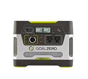 Goal Zero Yeti 400 Portable Power Station, 400Wh Battery Powered Generator with 12V, AC and USB Outputs