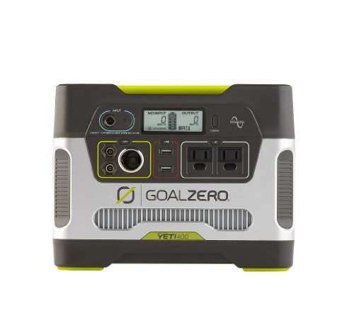 Goal Zero 23000 Yeti 400 Solar Generator made our list of best quiet generators for camping and best small generators for camping
