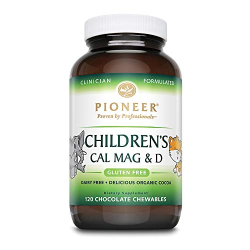 Pioneer Nutrition Children's Calcium Magnesium & D Chocolate Supplements, 120 Count