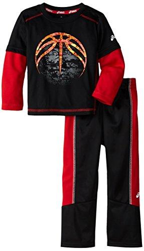 UPC 767052841875, ASICS Little Boys' Toddler 2 Piece Score Pant Set, Performance Black, 3T