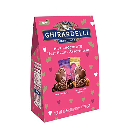 Ghirardelli Valentine's Day Chocolate Duet Hearts Assortment XL Bag, 16.8 Ounce ()