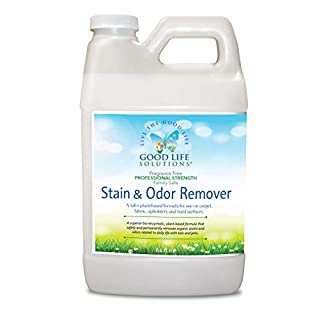 Stain Remover And Odor Eliminator - Mattress, Couch, Carpet, Auto, Floors, Pet - Blood, Poop, Vomit, Incontinence Urine Cleaner - A Safer Plant Based, Professional Strength, Non Toxic, Enzymatic 64oz