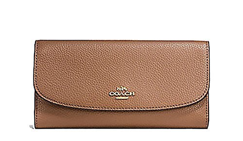 Coach Pebbled Leather Checkbook Wallet Clutch - #F16613 by Coach