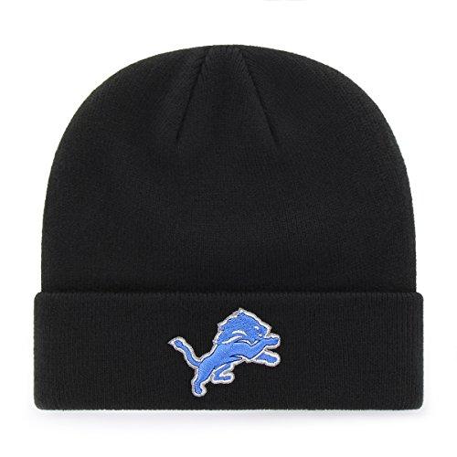 Nfl Detroit Lions Ots Raised Cuff Knit Cap  Black  One Size