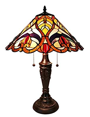Amora Lighting AM233TL16 Victorian Tiffany Style Table Lamp 24 Inches Tall