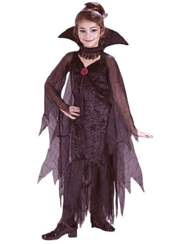 Child Daughter of Darkness Gothic Costume - Small (Daughter Of Darkness Halloween Costume)