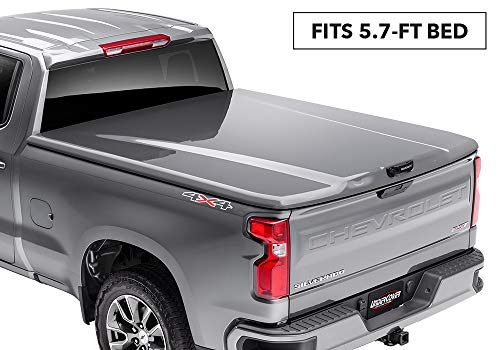 UnderCover Elite LX Painted One-Piece Truck Bed Tonneau Cover, Olympic White | UC1138L-50 | fits 2014-2018 GMC Sierra  & 2019 Limited  5.7ft Short Bed Crew 50(GAZ)(WA8624) - Olympic White (2014 1500 Only, 2015-2019 1500,2500,3500)