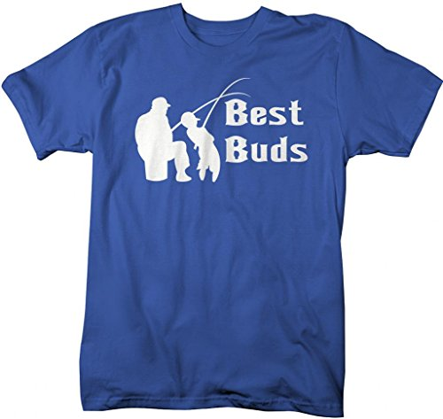 Shirts By Sarah Men's Matching Father Son Best Buds T-Shirt (Royal 3XL)
