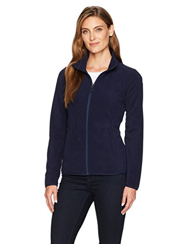 Amazon Essentials Womens Standard Full-Zip Polar Fleece Jacket, Night Navy, Small