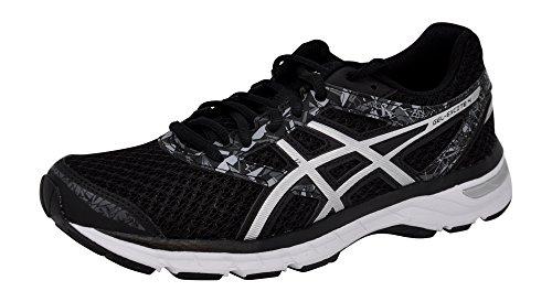 ASICS Women's Gel-Excite 4 Running Shoe, Black/Onyx/Silver, 6 M US