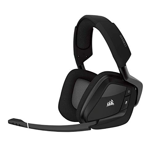(CORSAIR Void PRO RGB Wireless Gaming Headset - Dolby 7.1 Surround Sound Headphones for PC - Discord Certified - 50mm Drivers - Carbon)