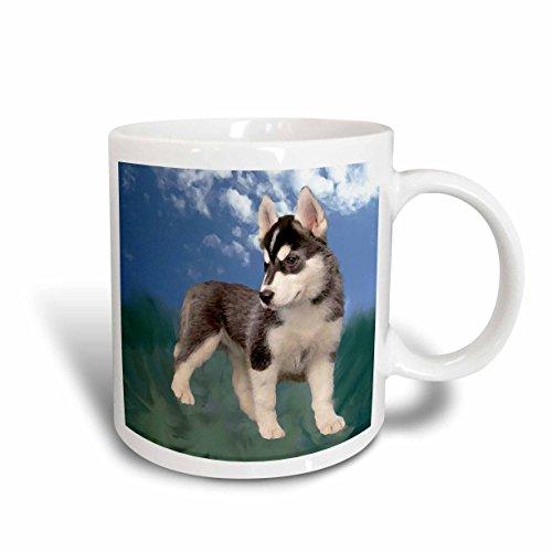 (3dRose Siberian Husky Puppy Mug,)