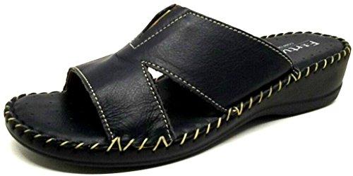 La coccinella - Zapatillas de estar por casa de Piel para mujer azul turquesa 40