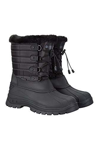- Mountain Warehouse Whistler Womens Snow Boot -Waterproof Winter Shoes Black 7 M US Women