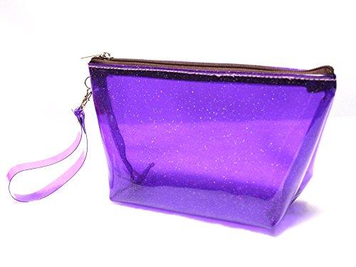 Makeup bag glitter : Milky way cosmetic bag travel (Purple)