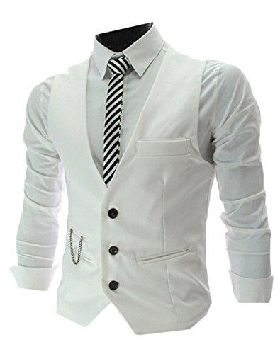 Generic Men's Top Designed Casual Slim Fit Skinny Dress Vest Waistcoat