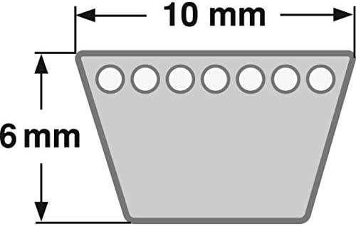 10 x 1300 Li//Code Keilriemen Profil Z 51 DIN 2215 Gates Hi-Power