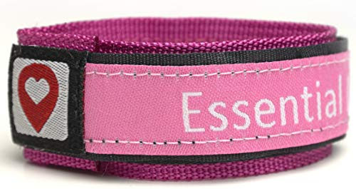 (ID Wristband (Pink) | ID Safety Bracelet | Medical Alert Bracelet - Id Tag for Lost Kids, Good for Dementia, Runners, Medical ID and Fully Adjustable)