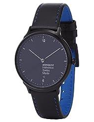 Mondaine Men's MH1L2222LB Helvetica No.1 Analog Display Quartz Black Watch