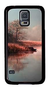 Samsung Galaxy S5 Case,Samsung Galaxy S5 Cases - Pink Plants Lake Custom Polycarbonate Hard Case For Samsung Galaxy S5 - Black