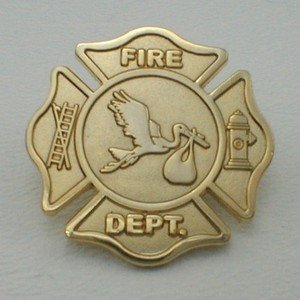 FD FIRE DEPARTMENT STORK PIN -