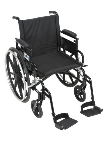 Drive Medical Viper Plus GT Wheelchair with Flip Back Removable Adjustable Desk Arms, Swing Away Footrests, 16