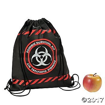 Zombie Survival Drawstring Backpacks - 12 -