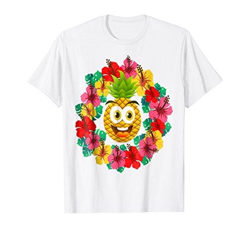 Hawaiian T-Shirt PINEAPPLE LEI Flowers Aloha Hawaii Tiki Lua