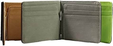 New Money from Clips Men Wallet Multifunctional Colourful Ultra Thin Men Neck Pouch Orange Coffee Green Wallet