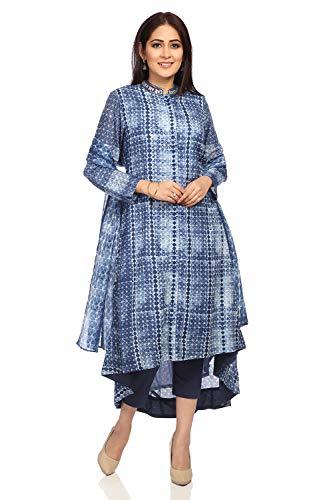 BIBA Women's Blue Cotton Salwar Kameez Dupatta Size 32 ()