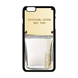 Classic Design Michael Kors MK Print Black Case With Hard Shell Cover for Apple iPhone 6 Plus 5.5