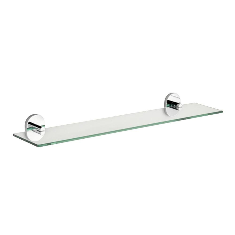 Glass shelving bathroom - Croydex Qm411441yw Pendle Glass Shelf Chrome Mounted Bathroom Shelves Amazon Com