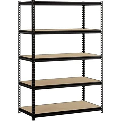 amazon com heavy duty garage shelf steel metal storage 5 level rh amazon com steel shelving for garage storage steel shelving for garage 72 x 18 x 72