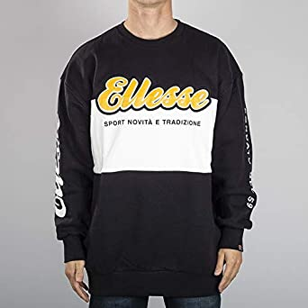 Ellesse NANNINO Sweat Shirt Homme Multicolore (BlackWhite