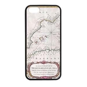 Creative predela Méditerranée Apple iphone 5 o mapa 5s plástico y TPU (tecnología láser) caso, celular cubierta