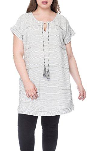 Bobeau Bethie Plus Size Tunic Beaded Detail -