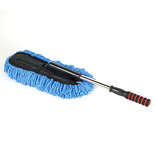 SR1 Performance Super Plush No Slip Grip Scratch Free Extendable Microfiber Detail Duster Flat (1 - Accessories Duster