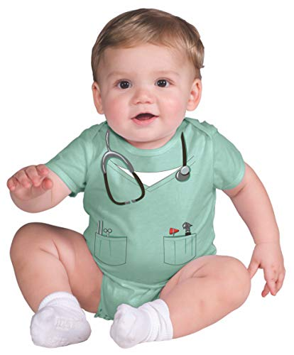 Rubie's My First Halloween Doctor Onesie Costume, Green, 6-12 Months -