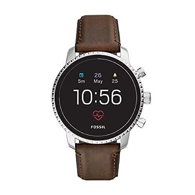 Fossil Men's FTW4015 Smartwatch Gen 4 Digital Display Analog Quartz Brown Watch