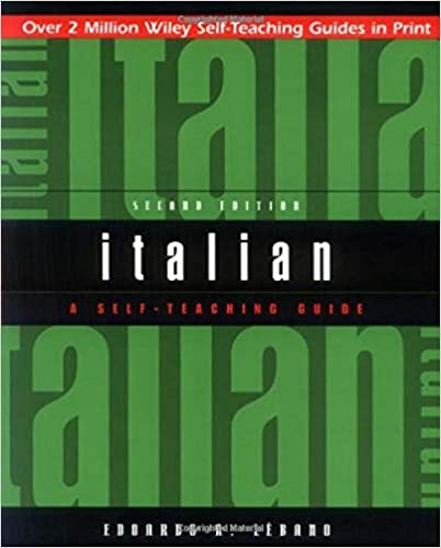 Amazon com: Italian: A Self-Teaching Guide, 2nd Edition