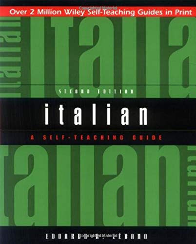 Italian: A Self-Teaching Guide, 2nd Edition