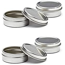 Empty Slip Slide Round Tin Containers for Lip Balm, Crafts, Cosmetic, Candles, Storage Kit by MagnaKoys 1/2 Oz (14)