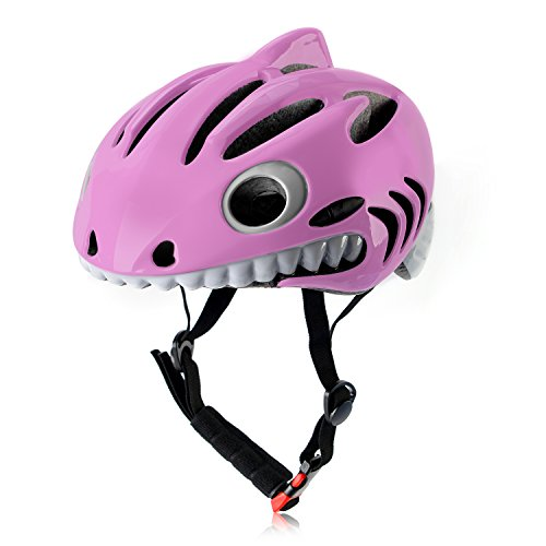 Baillk Children Bicycle Helmet Kids Protective Gear Multi-sport Adjustable Pink Shark Helmet