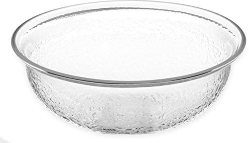 Carlisle SB6807 BPA-Free Round Pebbled Fruit Serving Bowl, 1.4 Quart, Clear