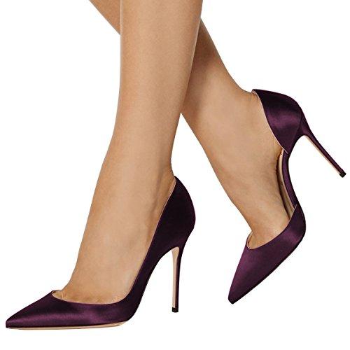 Fsj Donne Classiche Décolleté Décolleté Décolleté Décolleté Décolleté Slip On Slip Dress Size 4-15 Us Purple