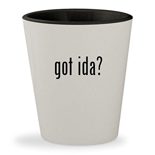 got ida? - White Outer & Black Inner Ceramic 1.5oz Shot - Online Glasses Rolf